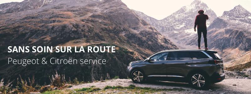 SANS SOIN SUR LA ROUTE Peugeot & Citroën service